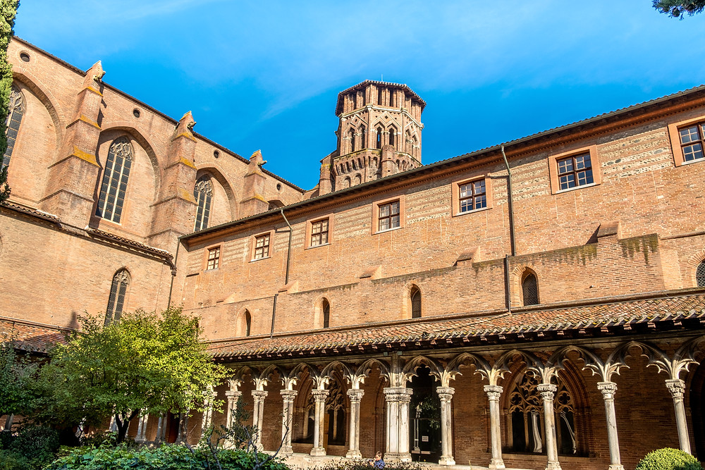 cloister of the Musée des Augustins in Toulouse France