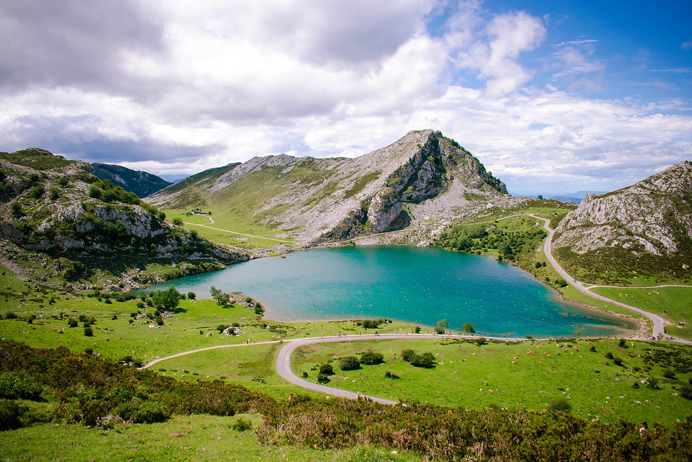 the lakes of Covadonga in Asturias