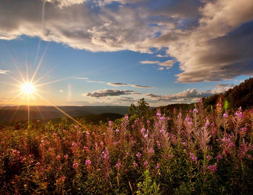 Berkshires sunset