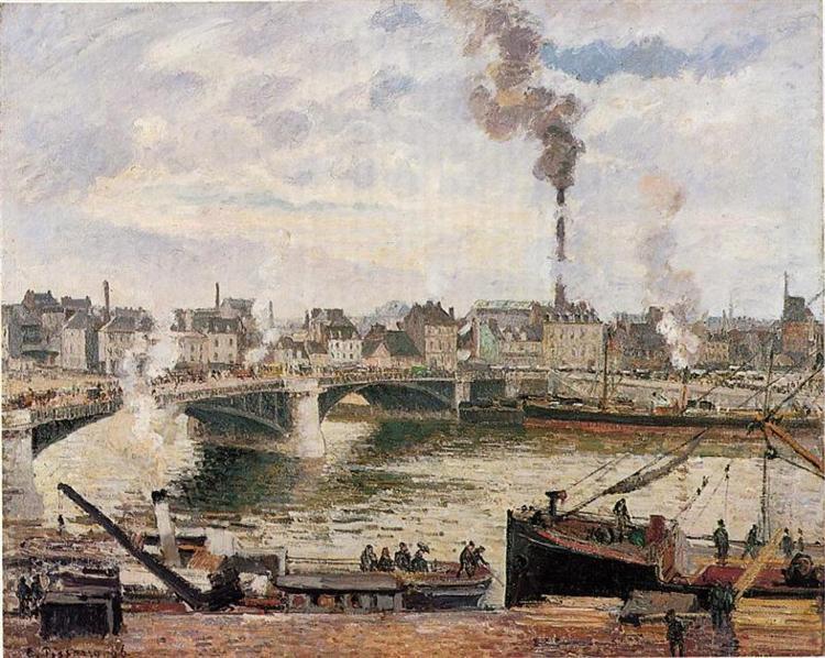 Pissarro, The Great Bridge Rouen, 1896
