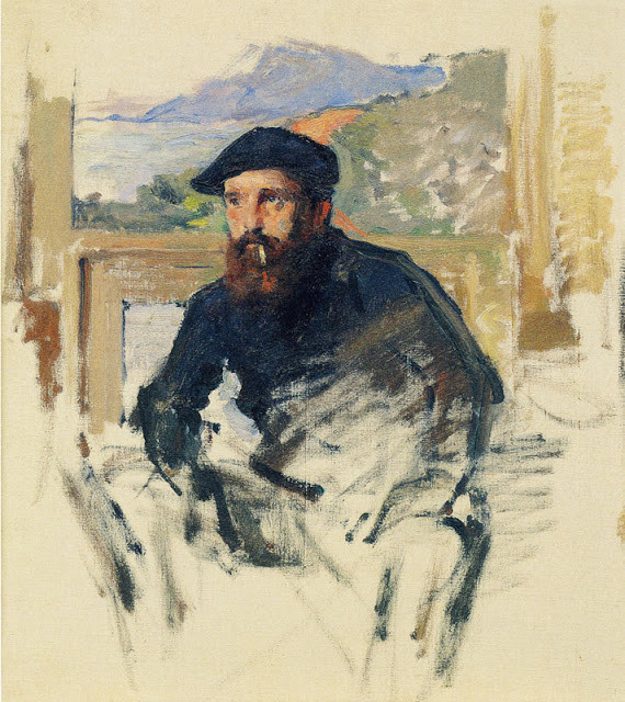 s Girard, Portrait of Monet, 1886 -- previously thought to be a self-portrait by Manet