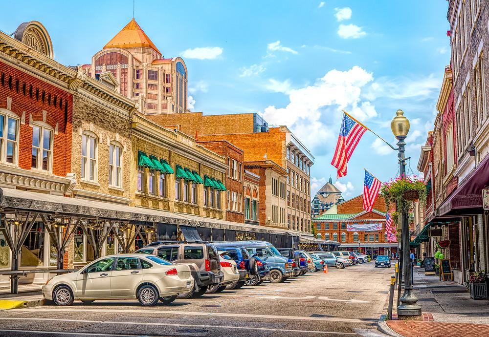 Main Street in Roanoke Virginia