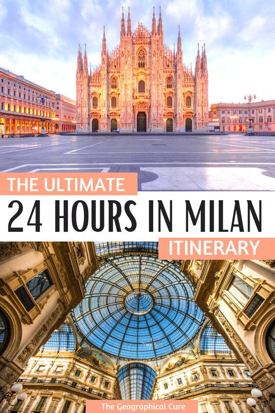 the perfect one day in Milan Italy itinerary