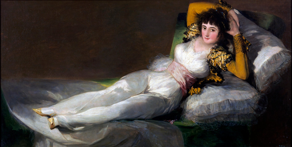 Francisco de Goya, Marquesa de La Solana, 1794-95 -- one of the most underrated paintings in the Louvre