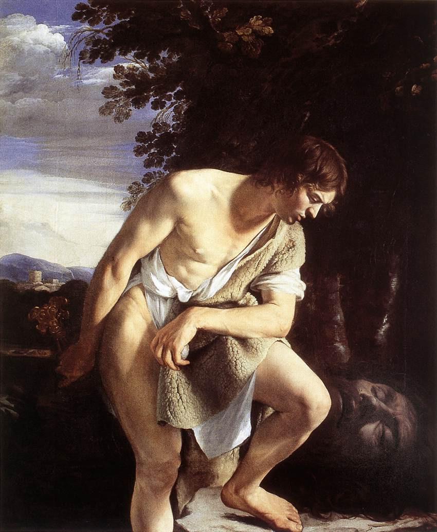 Orazio Gentileschi, David Contemplatilng the Head of Goliath, 1610
