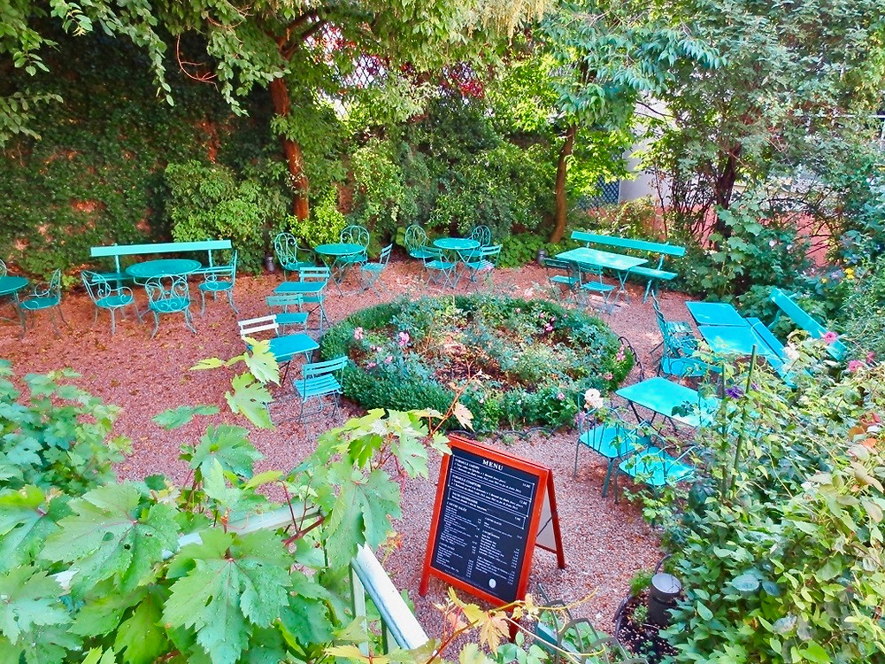 the garden of the Musée de la Vie Romantique in Paris' Nouvelle Athenes neighborhood in the 9th arrondissement