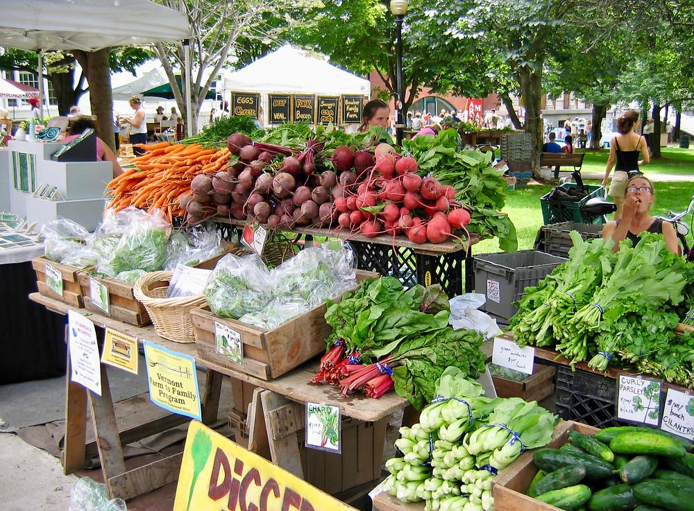 the famous Burlington Farmer's Market