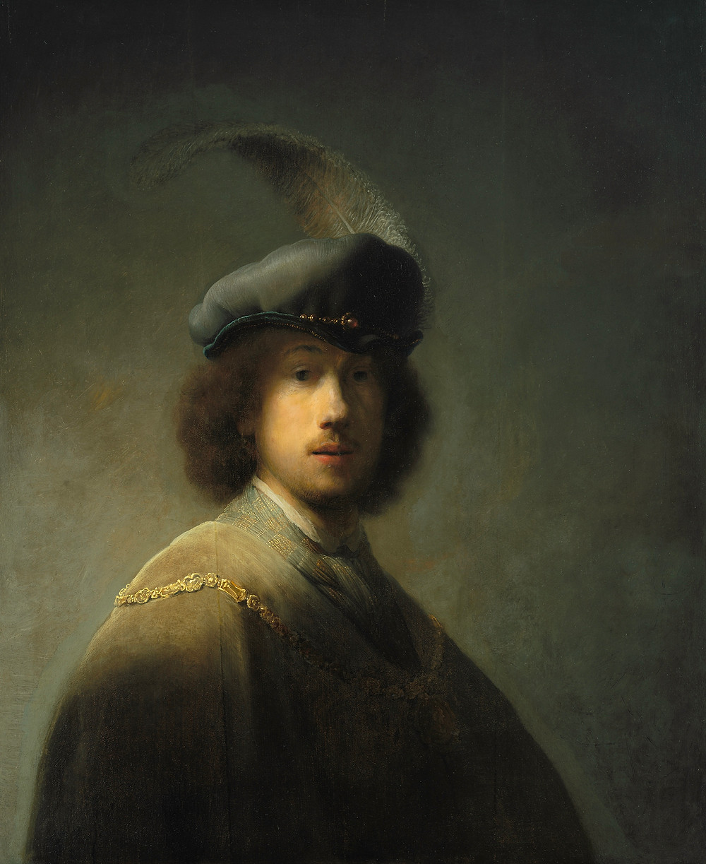 Rembrandt Self Portrait Age 23 in the Dutch Room