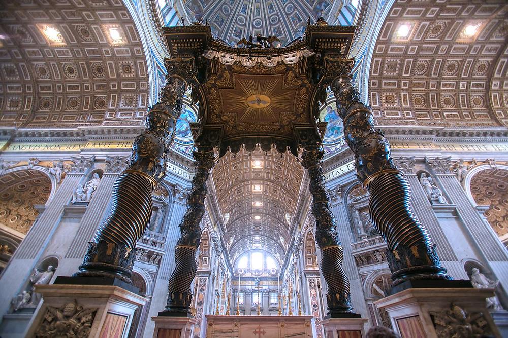 Bernini's Baldachin in St. Peter's Basilica, 1623-34