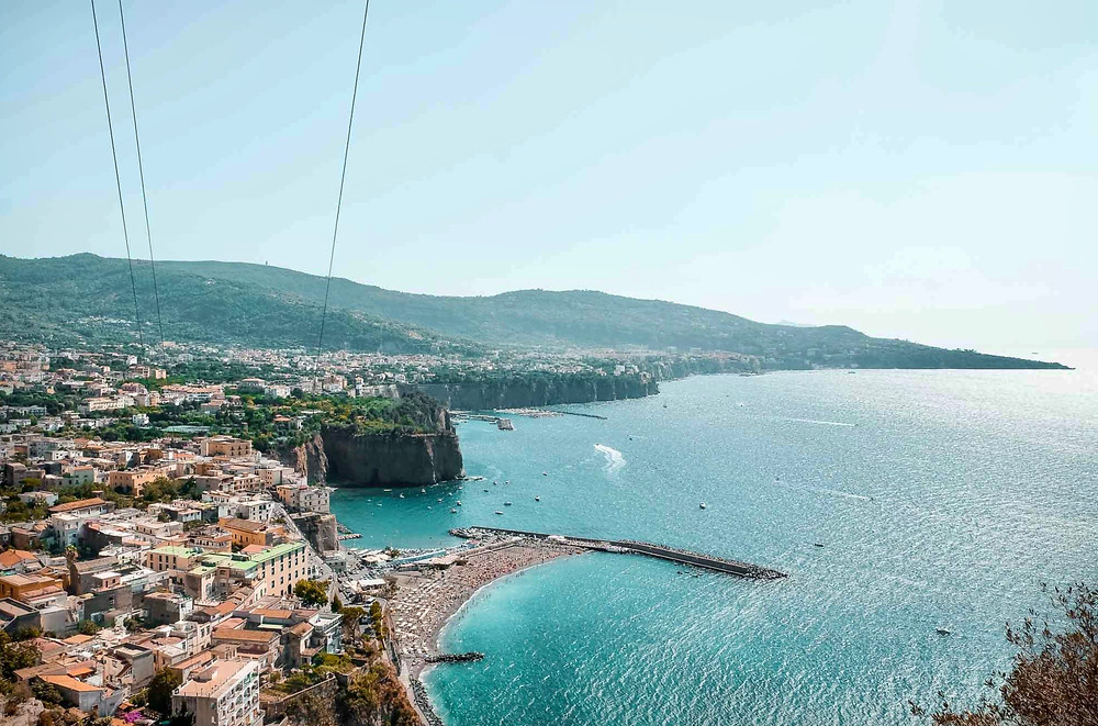aerial view of Sorrento coastline