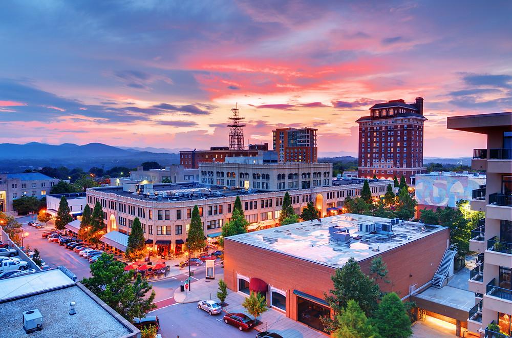 downtown Asheville NC