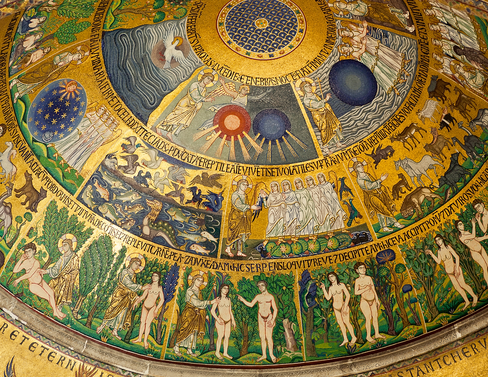 golden mosaics in St. Mark's Basilica