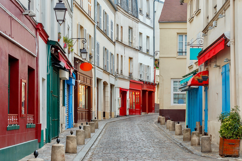 pretty street in the less touristy part of Montmartre