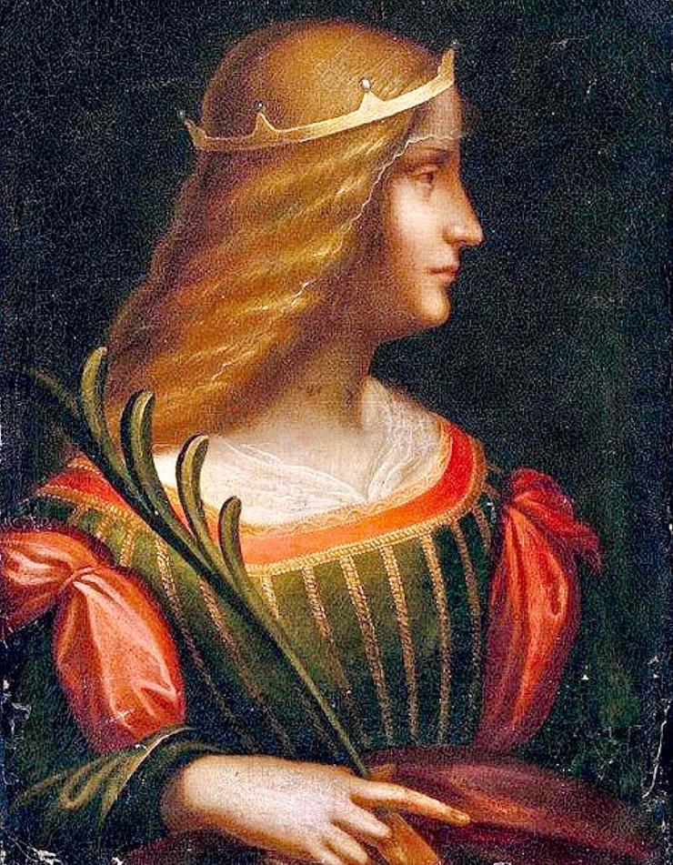 Portrait of Isabella d'Este, circa 1500 -- a disputed Leonardo da Vinci painting