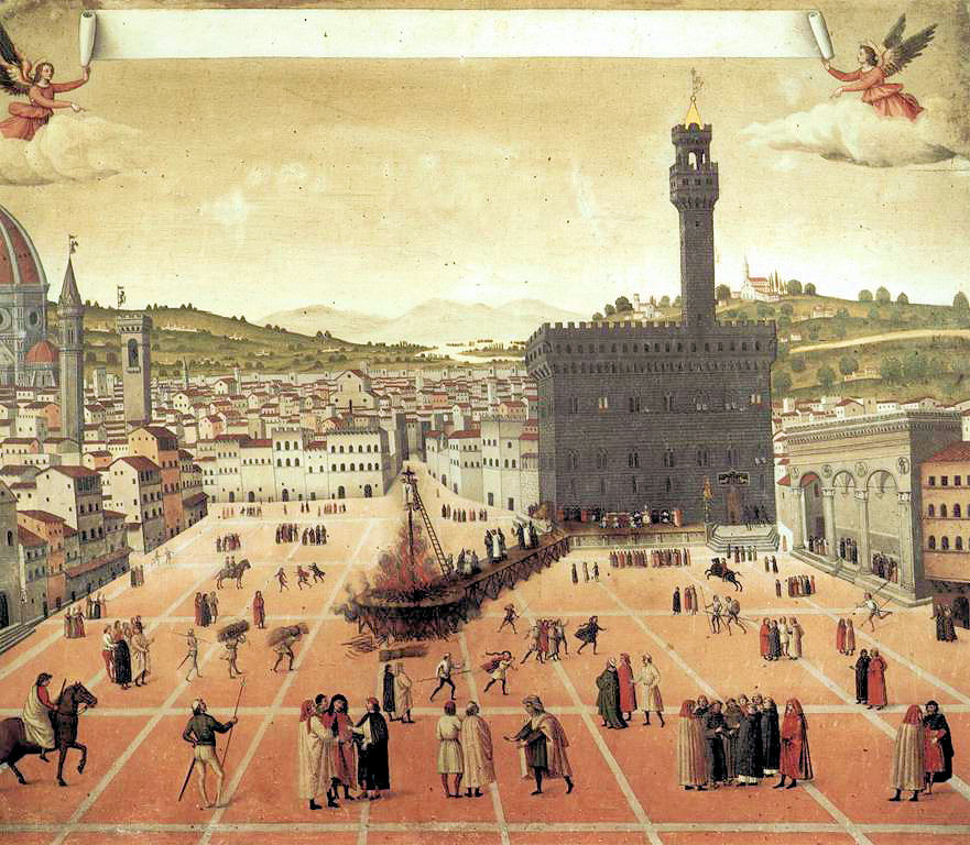 Painting of Savonarola's execution in the Piazza della Signoria