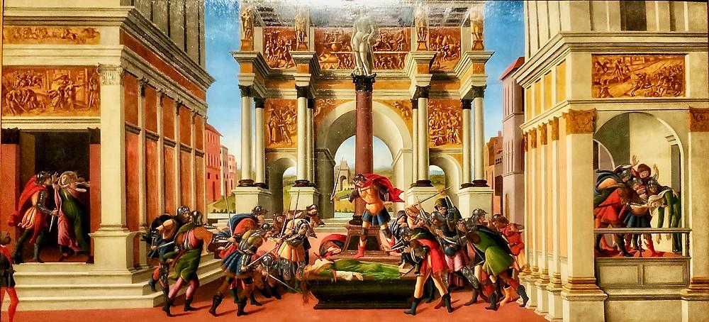 Sandro Botticelli, The Tragedy of Lucretia, 1496