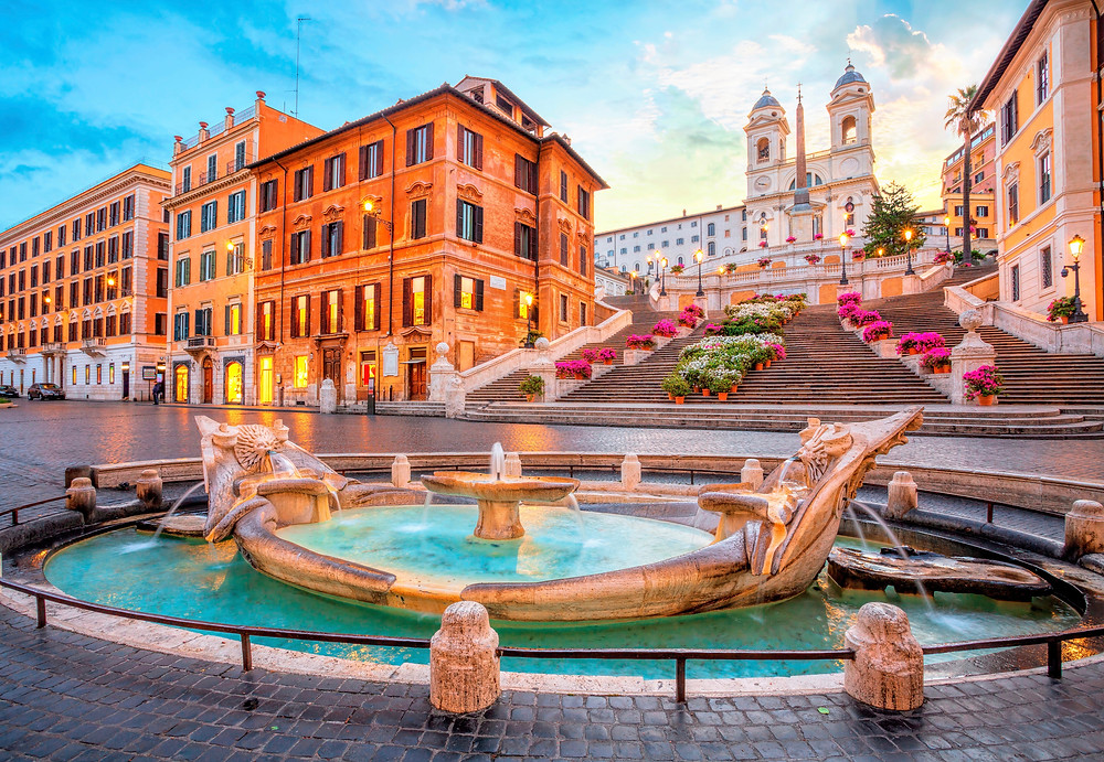Piazza di Spagna and the Spanish Steps