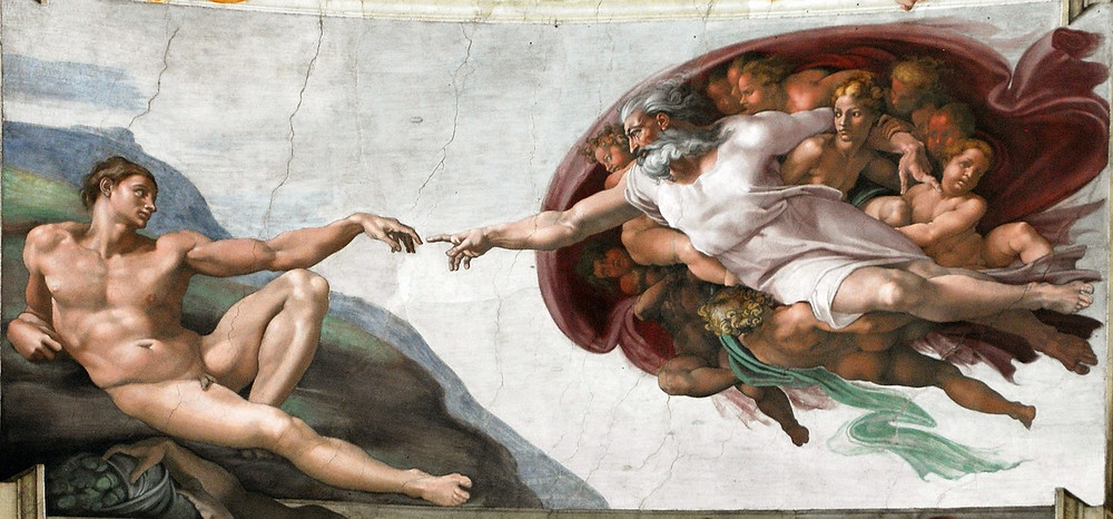 the Creation of Adam, the most famous fresco in the Sistine Chapel