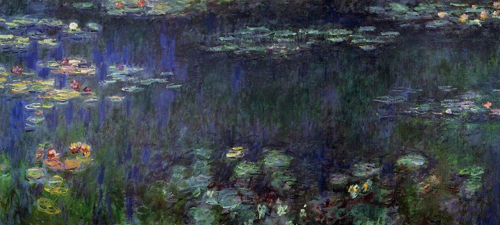 Claude Monet, The Water Lilies, Green Reflections, 1914-17