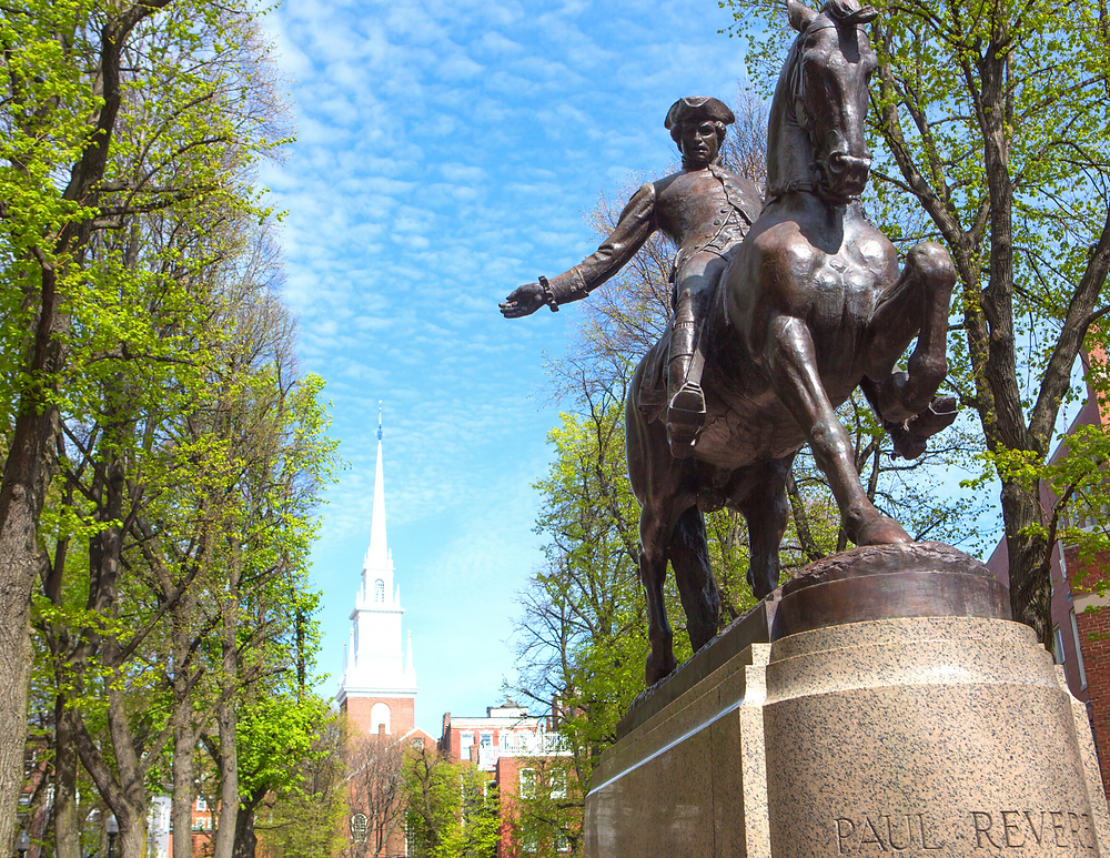 Paul Revere Monument at Old North Church
