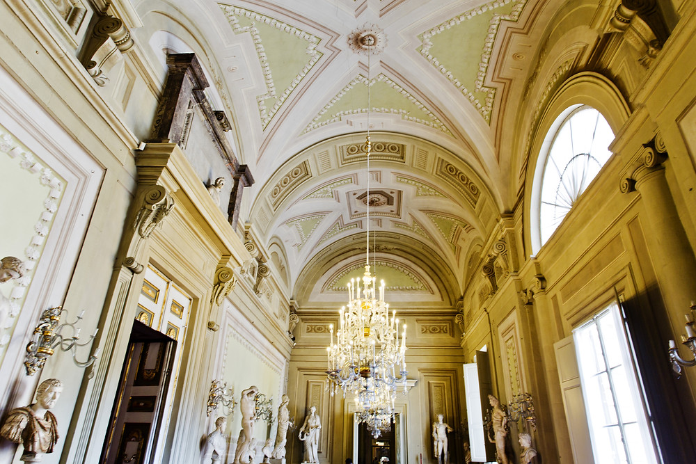 the Gallery of Statues in the Pitti Palace