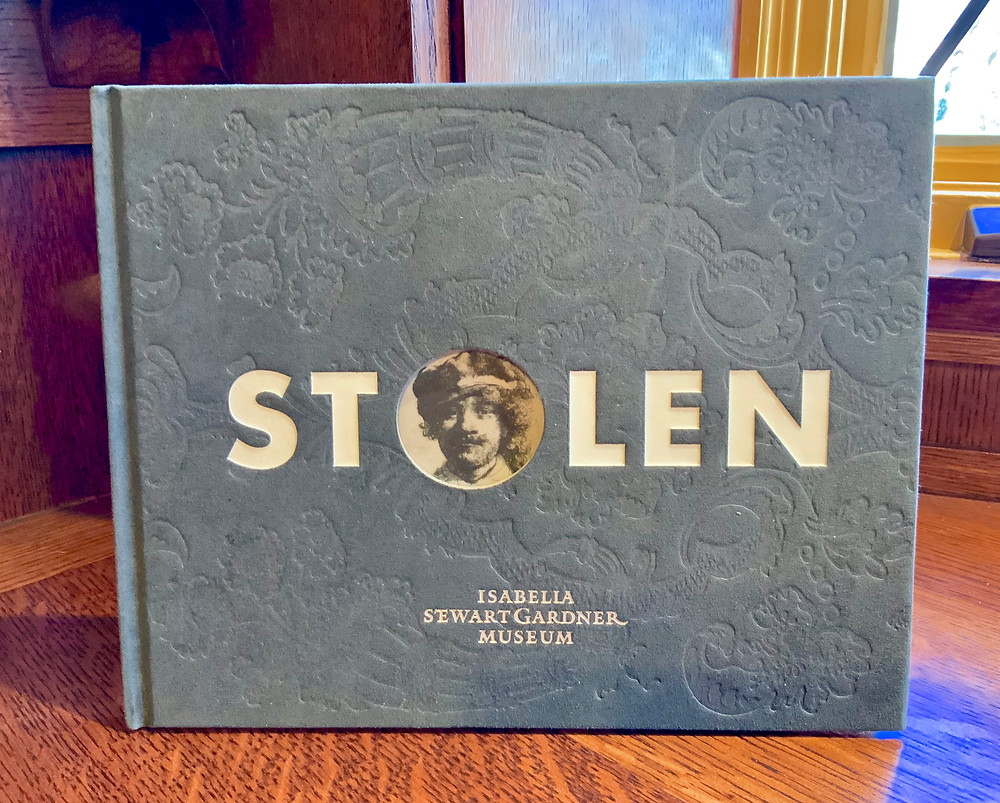 my copy of the book Stolen about the art heist