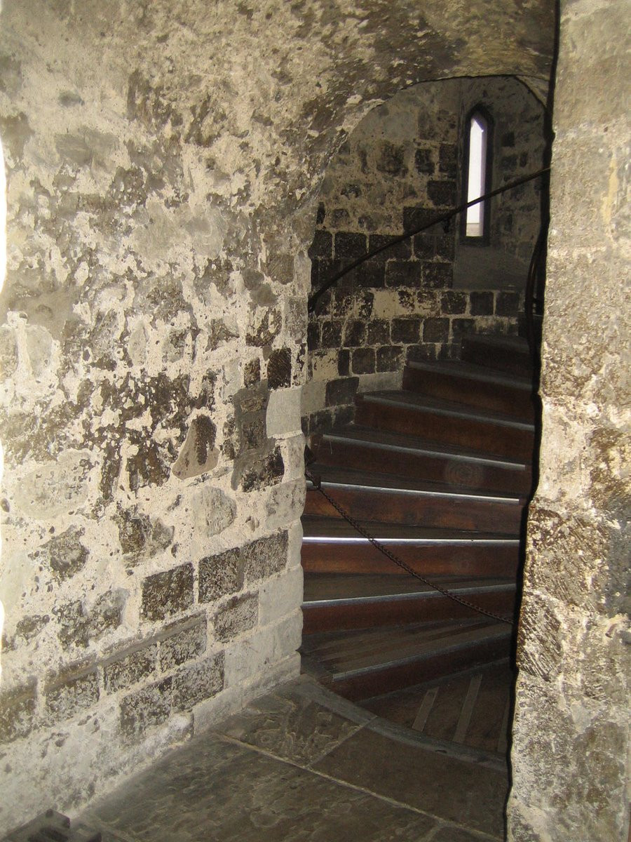 spiral staircase of the White Tower in the Tower of London