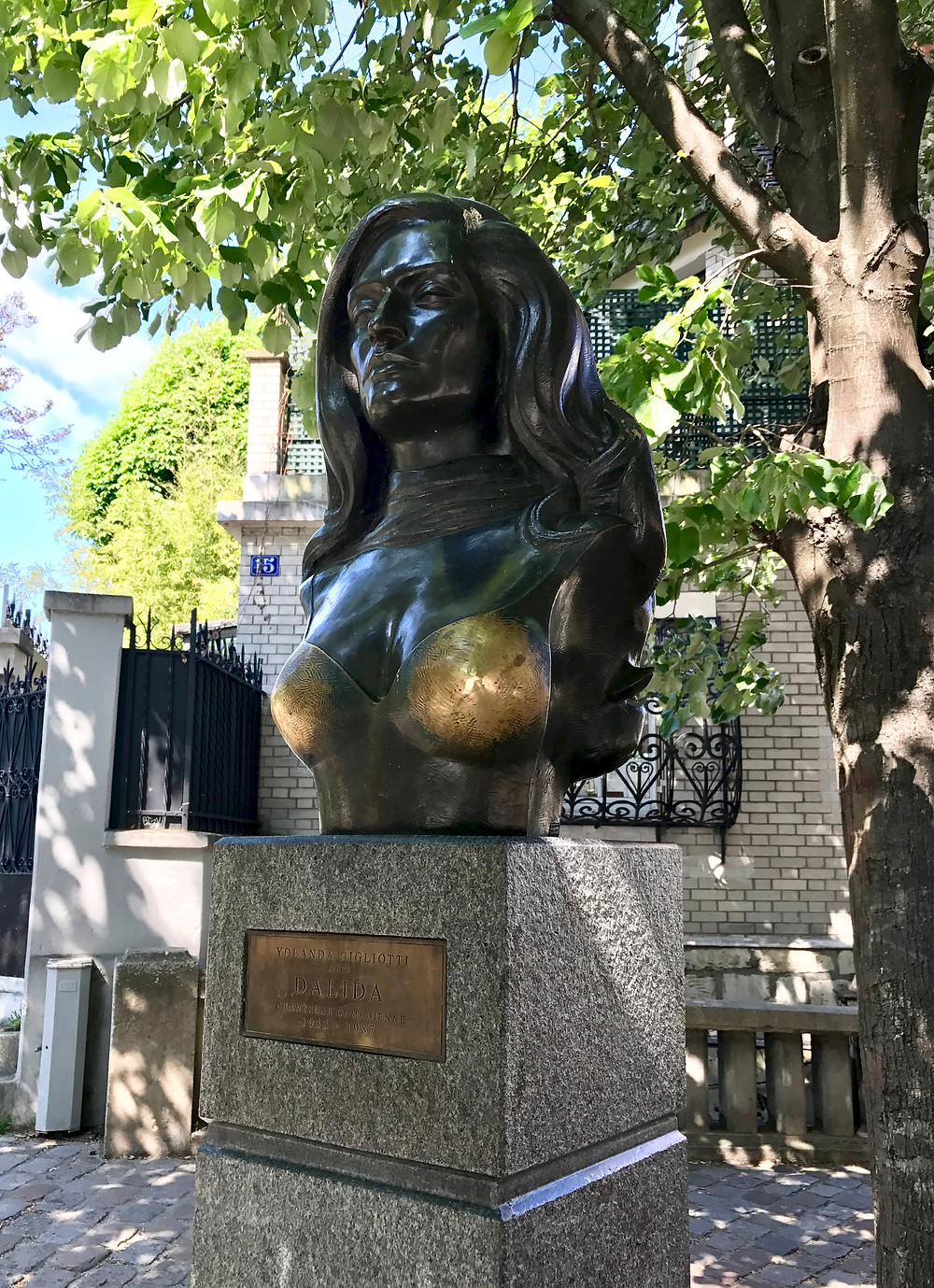 statue of Dalida on Place Dalida in Montmartre