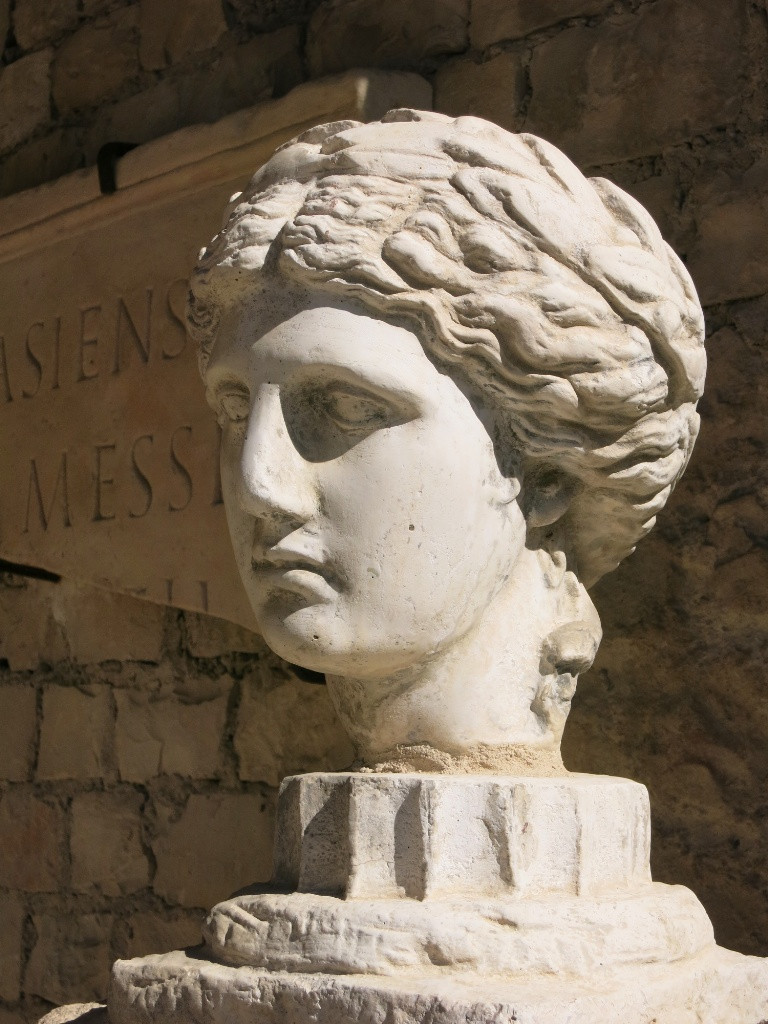 statue of Apollo in the Roman part of Vaison La Romaine