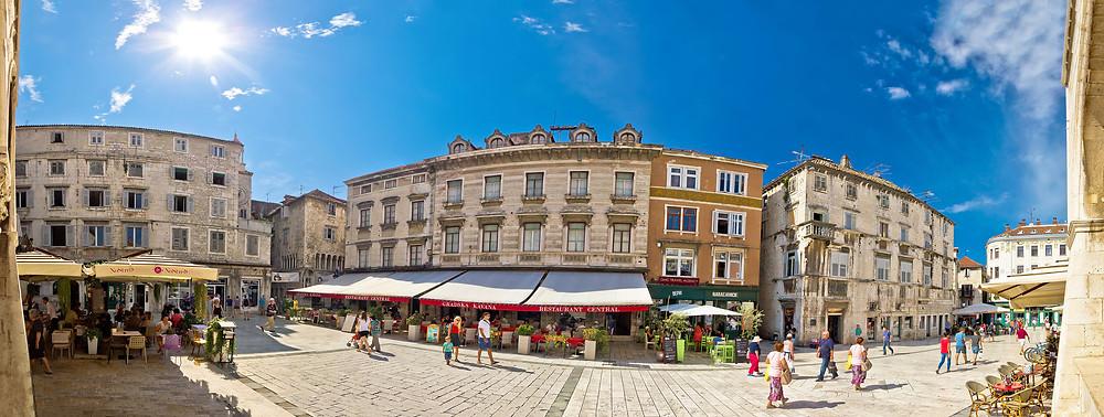 historic People's Square in Split