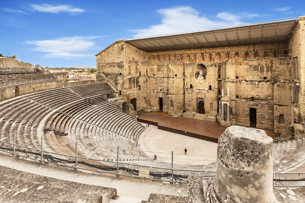 Roman Theater in Orange, a historic monument in southern France