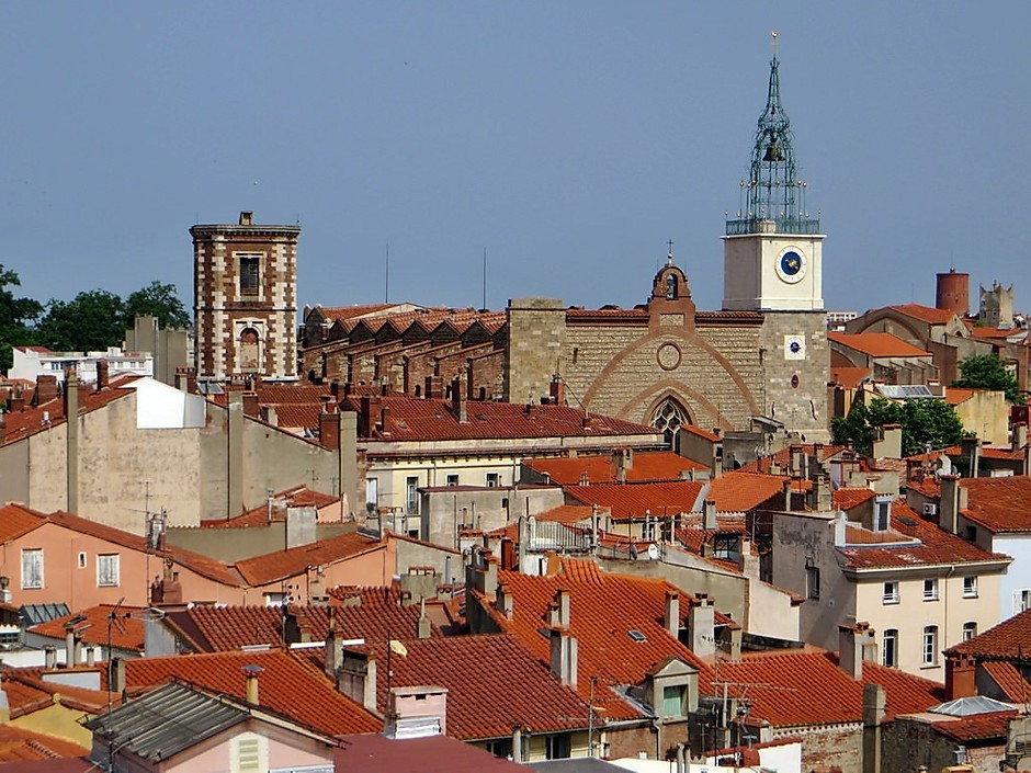 the village of Perpignan in Occitanie France