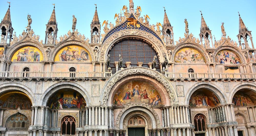 the facade of St. Mark's Basilica