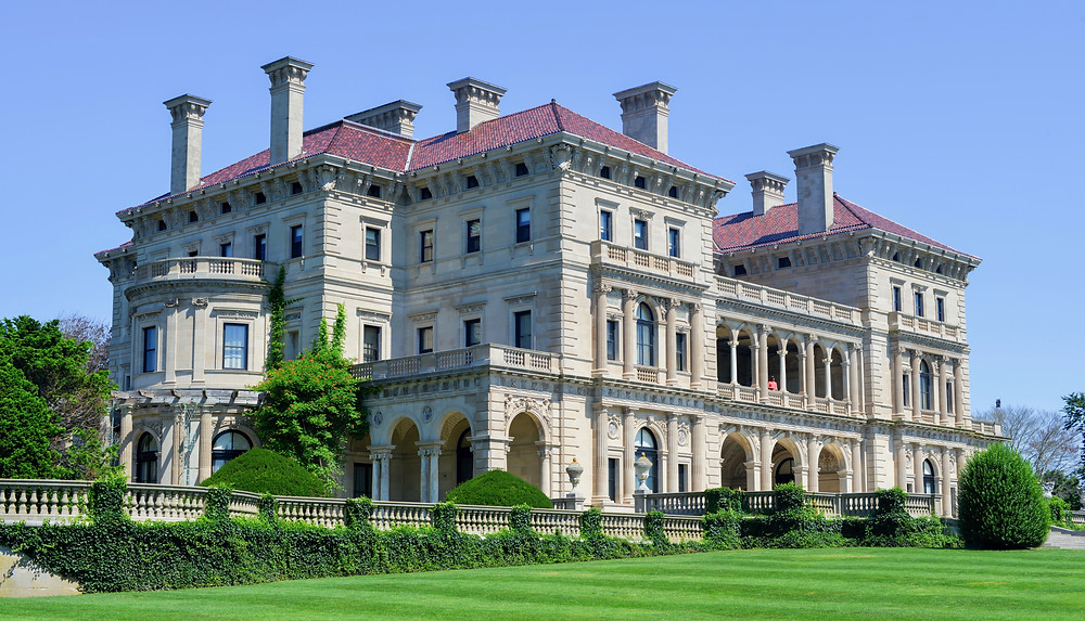 Breakers Mansion on the Cliff Walk in Newport Rhode Island