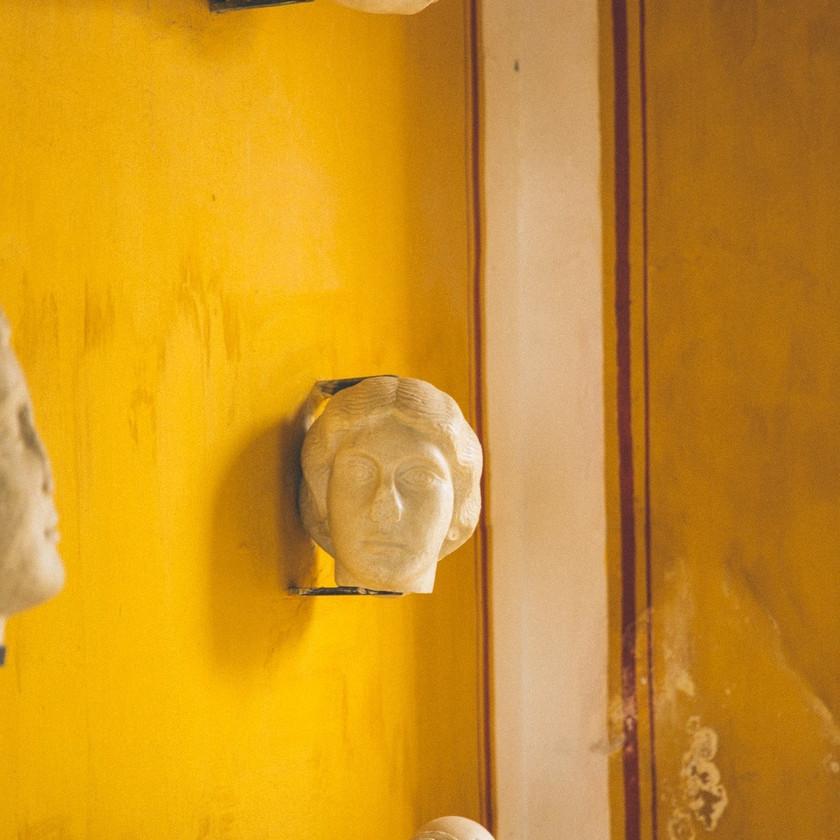 bust of a woman in the Casa de Pilatos