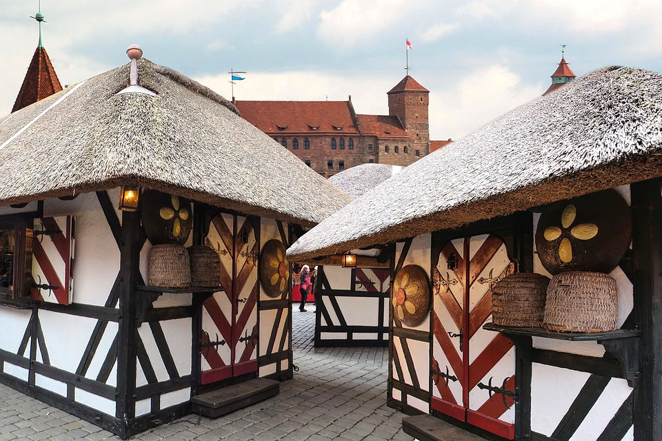 adorable stalls at the Nuremberg Christmas market