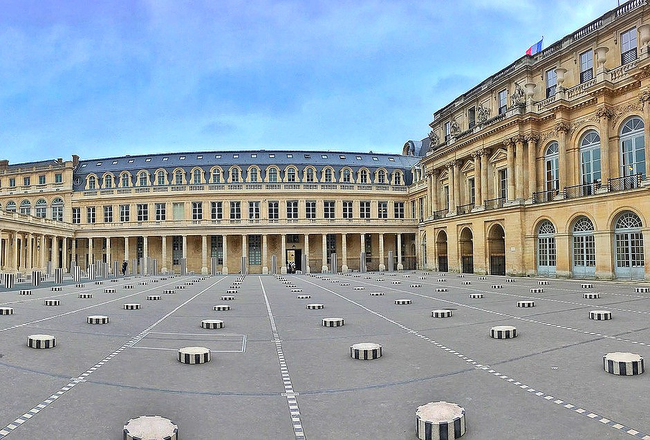 the Palais Royal and the Colonnes de Buren