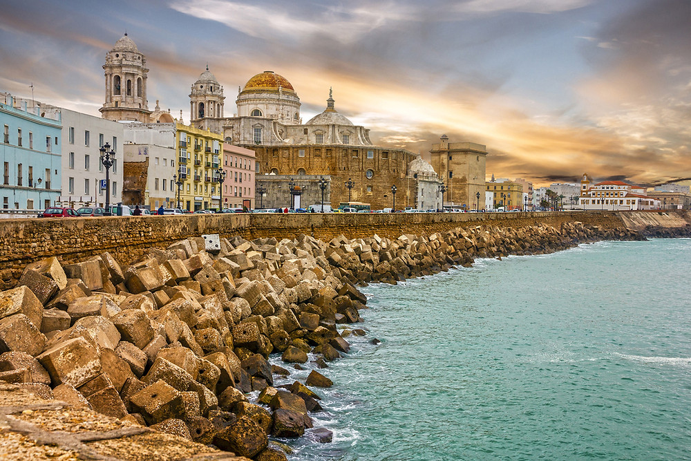 Seafront Cathedral Campo del Sur in Cadiz Spain