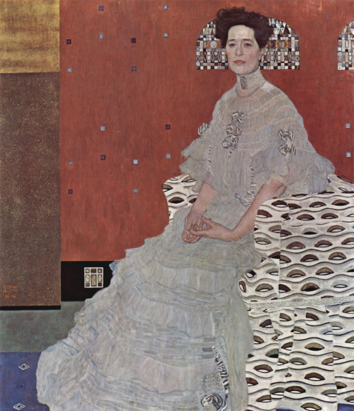 Gustav Klimt, Portrait of Fritza Riedler, 1906
