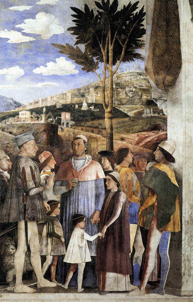 Gonzaga meeting his son Francesco