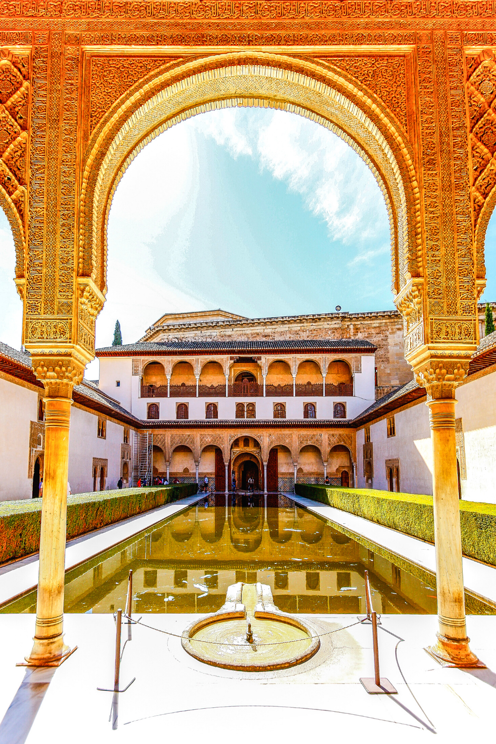 Courtyard of the Myrtles in the Alhambra