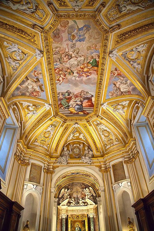 frescos in the Borromini Sacristy