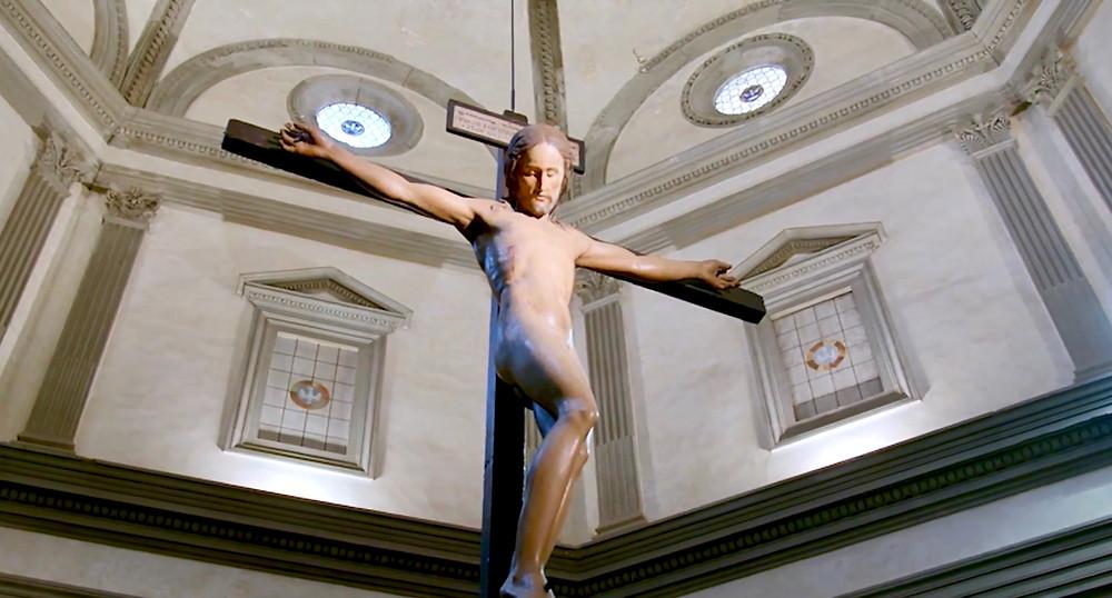 Michelangelo, Crucifix, 1492 -- in Santo Spirito