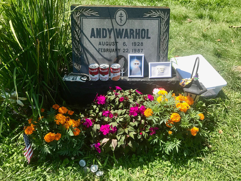 Andy Warhol's grave in a suburb of Pittsburgh, which I visited after my museum experience