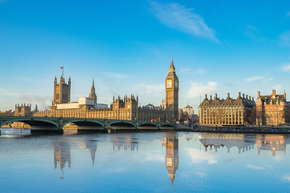 the beautiful Houses of Parliament in London
