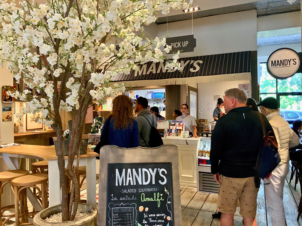 Mandy's gourmet salad shop in Outremont