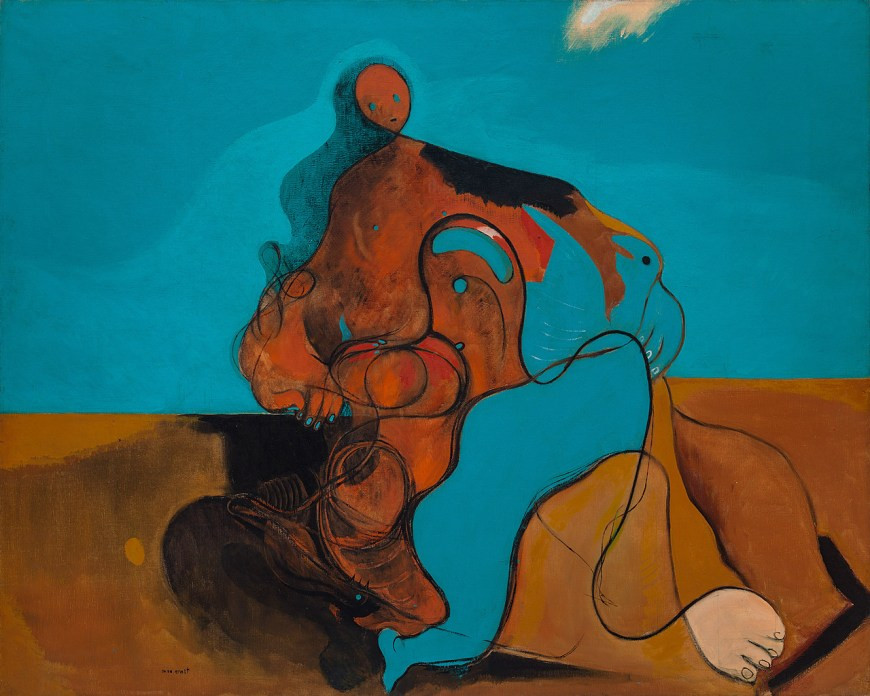 Max Ernst, The Kiss, 1927 -- saved by Peggy before she fled to New York