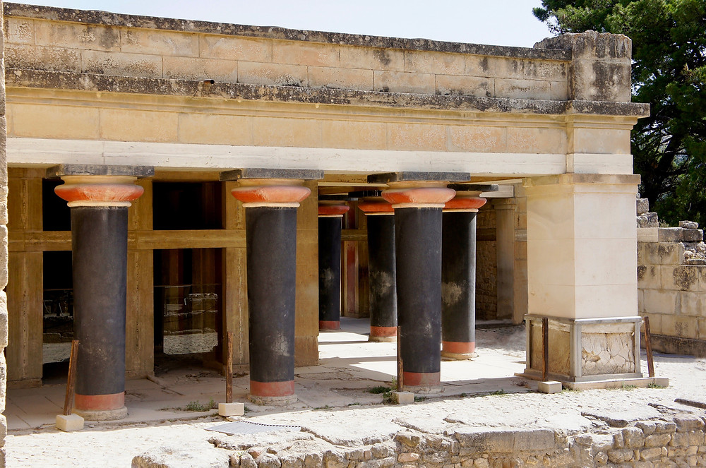 Hall of the Double Axes at Knossos Palace