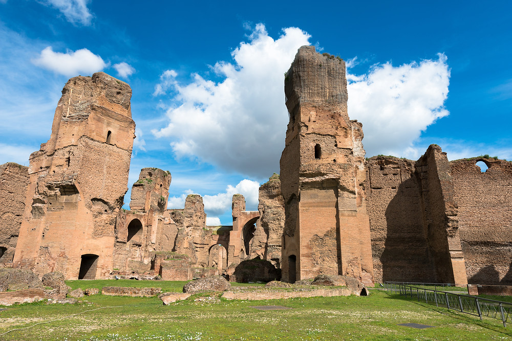 the ruins of the Baths of Caracalla