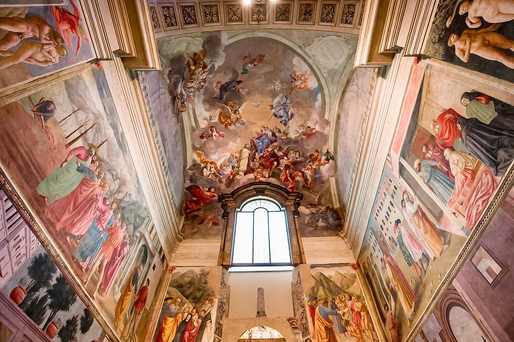 Masaccio frescos in the Brancacci Chapel